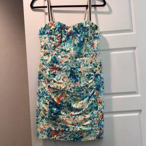 Fun splash pattern Nanette Lenore mini dress